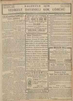 23 Kânurusani 1931 Ctanhuriyet Mliinakasa kanunu Şimdiye kadar edilen tecrübeler tadilde esas tutulacaktır Ankara 23...