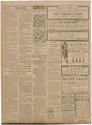 Camhuriyet ¥ 25 Mart 1931 A L K A Z A R S Î N E M A S I N D A Hikâyeler f Miithis bir intikanı! Aman Hanımefendi.. Kahve...