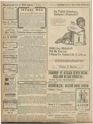 ilâç arınızı ve birînci nevi Bahk yağının SS* P ^ BAKTERIYOLOK 'Cumhuriyet 25 Mart 1931 Salih Nacati'denahniz...