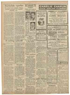 = Camhuriyet 14 Nisan 1931 > Seyrisefain vapurları Pire acentası Yunan tacirlerine: «Malınızın çalmdığını istemezseniz Türk
