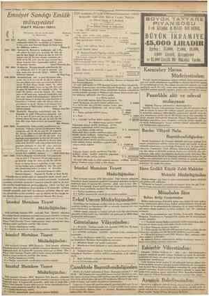 « 10 Mayu Emniyef Sandığı Emlâk müzayedesi Kate'î K a r a r Bflâınnı Merhunatin cins ve nev'ile mevki ve müştemılâtı N 1726