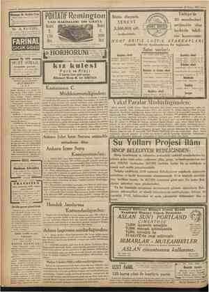 ' CumKuriyet 10 Haziran 1931 « Kimyager Dr. Ibrahim Etem Hayati, gıdaî. sınaî her nevi tahlılât. Her gun Divanyolu eski Şark