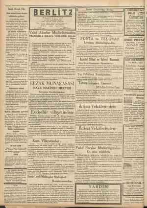 Cumhttriyet 9 Temmuz 1931 Irak Kralı Hz. Aziz misaf irîmiz bugün şehrimize geliyor (Birinci sahifeden mabait) BERLIT2 M E K T