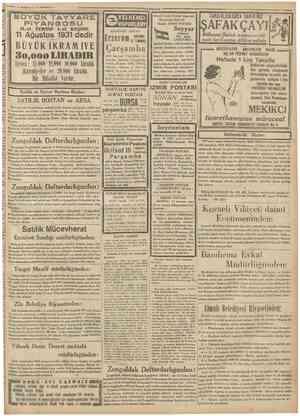 """lemmuz i o l """"Camfmriyet TâYYÂ Ağustos 1931 dedir ei TERTiP KEŞiDE VAPURLARI KARADENİZ POSTAS! Hantal Zade Tayyar vapurlan"""