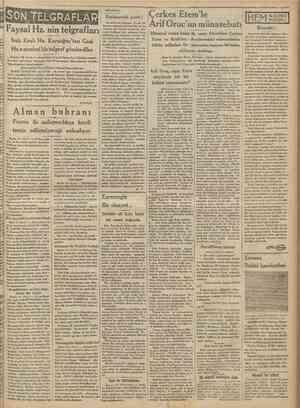 SONİ TEKRAFLAR Faysal Hz. nin telgraflar1 Irak Krah Hz. Karaağaç'tan Gazi Hz.e samimî bir telgraf gönderdiler Ankara 15...