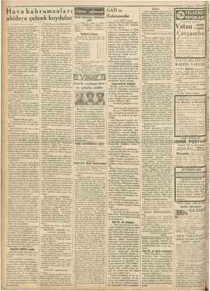 .«*** 4 Hava kahramanları abidere çelenk koydular Cumhariyet 3 Ağustos 1931 Günün eğlencesi GAZİ ve Dünkü bilmecenin...