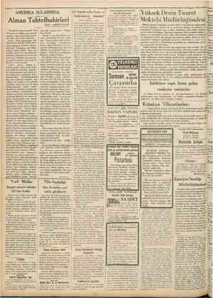 Camhurîyet 24 Ağustos 1931 YENİ ÇIKAN KİTAPLAR Iktisadî devletçilik AMERİKA SULARINDA Alman Tahtelbahirleri Nakili : ABİDİN