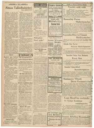 'Cumhmiyet 28 Ağustos 1931 AMERİKA SULARINDA Günün eğlencesi Dünkü bilmecenin halledilmiş şekli 1 Yelek, 2 ETEK, 3 LEHİM, 4