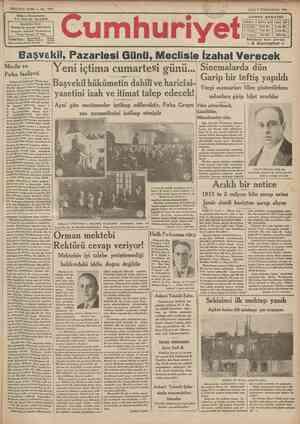 SEKîZîNG SENE No. ?691 Sthip *•£ Basmuhttrriri İ NADt İDARRHANESİ: tareı «ahsosa VTelgraf: İstanbul Cumhurivet ' Posta...