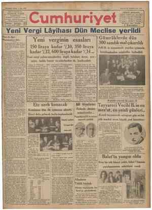 SEKiZiNCi SENE No. 27U r î Sahip ve Basmuharriri VUNUS NADİ1 İDAREHANESİ: Bnvnnounınmiif kar^ısındı daıreı aıahsıısa İstanbul