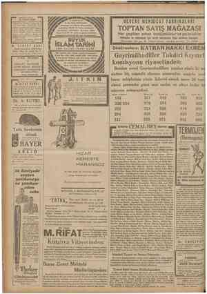 ıCumhariyet 3AKTER1YOLOU • • 26 Teşrmisani 1931 • Dr. İHSAN SAMt BAKTERIYOLOJI LÂBORATUVAR1 Umum kan tahlilâtı. Frengl nok