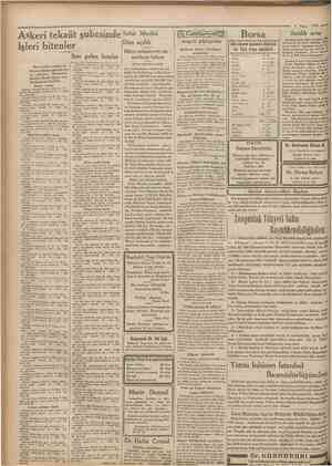 = 3 Nisan 1932 Askerî tekaüt şubesinde Şehir Meclisi Dün açıldı İşleri bitenler Bütçe müzakeratı car Son gelen listeler...