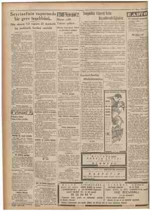 Seyrisefain vapurunda bir grev teşebbüsü.. Macar Dün bir teahhurla hareket edebildi Cumhuriyet 12 Nisan 1932 lil • w • me...