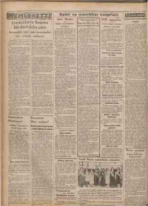 Cumhuriyet 16 Mayıs 1932 Sehir ve memleket haberleri Siyasî icmal İngiltere'nin terki teslihat siyaseti İpekçilerin başına