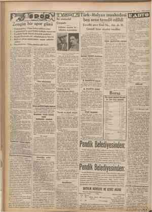 Cumhuriyet 27 May.» 1932 Zengin bir spor günü 2 3 4 5 Galatasaray • Fener bahçe intikam maçı Cumhurivet'in gayri federe...