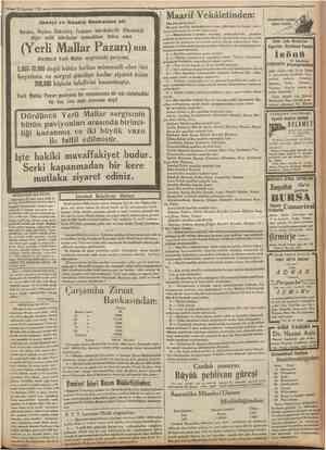 18 Ağustos 1 32 C Sanayi ve Maadin Bankasına ait Maarif Vekâletinden: Hereke, Beykoz, Bakırköy, Feshane fabrikalarile...