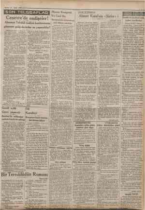 15 Eylul 1932 Camfiurjyet SON TELGRAFLAP Cenevre'de endişeler! Almanya Tahdidi teslihat konferansma gitmezse galip devletler