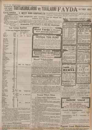 15 Eylul 1932 Kış gelmeden haşaratı ve yumur talarını bilhassa TAHTAKURULARINl ve YUVALARINIF A Y D A E. NEŞ'ET KiNiN...