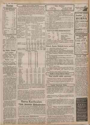 23 Eylul 1932 Borsa Diin akşam kapanan Borsada bir Tflrk lirası mukabili: Franstz Frangı Dolar LJrct Belçika Drahmi Isviçre