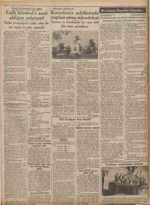 5 Teşrinisani 1932= Garîp ve meraklı bir iddia ıCumhariyet '• MEMLEKET MEKTUPLARI Fatih İstanbul'u nasıl Karadeniz...