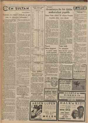 Cumhariyet 14 Şubat 1933 = • ıstantul Lorsası kapanış liatları 13 2 933 NUKUT 41 Yazan: M. TURHAN Londra Nev* York Psris...