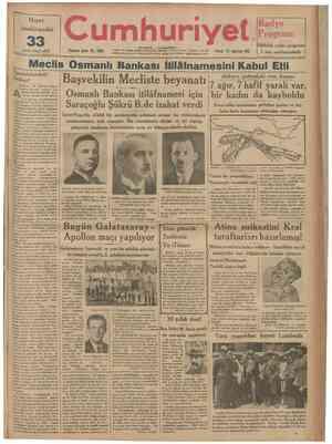 "Hayat Ansiklopedisi uncü cüzü cıktı 33 Onuncu sene: No. 3266 umh ""•""""""""""""""•""""••••"" Radyo Programı Pazar 11 Haziran 933..."