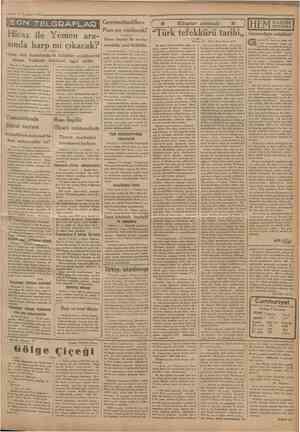 8 Temmuı 1933 Çrnnhmrtvet' S<m TELGRAFLAB Hicaz ile Yemen arasında harp mi çıkacak? Hicaz Asir hududundada kabileler...
