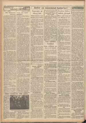 """HARPTE YAVOZ Yazan: G. KOPP """"Cumhariyet' HTeşrinievvel 1933 ı ( Çeviren: A. DAVER Şehir ve memleket haberleri Vapurcular işi"""