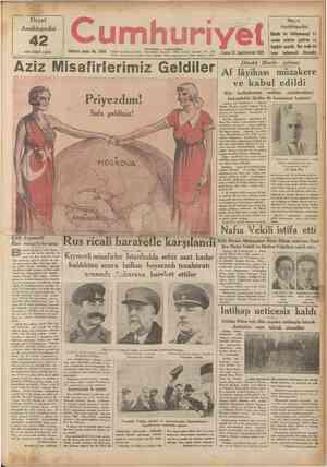 Hayat Ânsiklopedisi nci cüzii çıktı 42 Onuncu sene: No. 3404 umhuriyet \ ~ İSTANBUL CAĞALOÛLU Telgraf ve mektup adresl:...