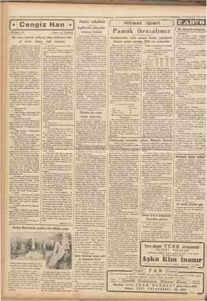 •25 Teşrinisani 1933 Turk # # 1 komurunun ıstıkbalı 1 •• •••••• • • • 1 1 ı « Cumhurivef Fransız kabinesi gene düstü Kabine,