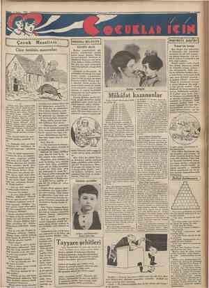 1 Snbat 1934 Cnmhurivel Çocuk Masalları FAYDAH BTLGÎLER Gürültü derdi [merakh Tuhaf bir hesap Bazı âlimler öyle kehanetler •