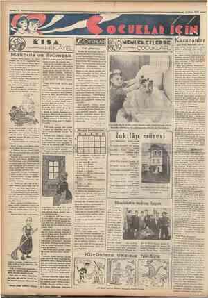 Mayıs 1934 ÜOYUNLAR Bunda da oyuncular bir hal ka olup otururlar. İçlerinde bu oQD aa yunun kurnazlığını bilmiyen bir kişi