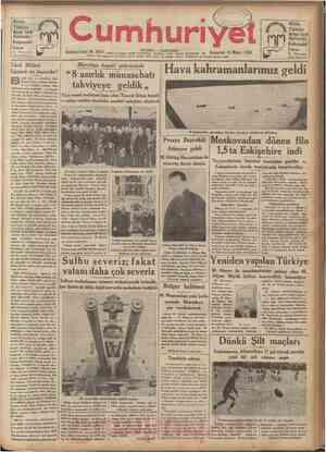 Bütün Türkiye Mehmeî Efendi Mahtumları Kahvesîni fciyor îst Mısırçarsısi kapısı karsıında umhuriyet : NO. 3 6 0 3 Telgral ve