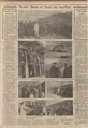 18 Hazîran 1934 Şehinşah Hz. nin Bursa ve Izmiri de teşrifleri muhtemel Ankarada yapılan! müzakereler 'Ankara 17 (Telefonla)