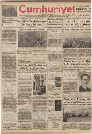 umhuriyet e NO 3 6 8 6 Telgraf TC melrtup adred: Cumhuriyet. Istanbul Posta ve matbaa Birinci Kordonda ALAS HerNodaSaenize
