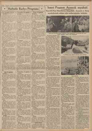 TOAgustos 1934 Cumhurhet Haftalık Radyo Programı î rrogram J (^Carsamba: 22 İSTANBUL: 18,30 fransızca ders 19 Dr Ali Şukru