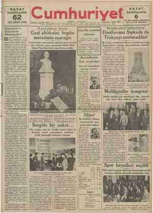 HAYAT Ansiklopedisi 62 çıktı nci cüzü 18 NO O f U o Telgrat ve mektup adreai: Cumhuriyet, Istanbul Posta kutusu: tstanbul.