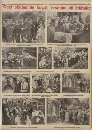 2 Eylul 1934^ Gazi abidesinin küşat resmine ait Çumhuriyet Büyük Millet Mecliri Reisi Kâzun Pasa Hazretleri resmi k&sattan