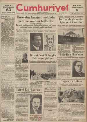 HAYAT Ansiklopedisi üncü cüzü çıktı Şehircilik ve Mahallî idareler ilmi Mfilkiye mektebine lâzım bir ders eçen temrouzun 1922