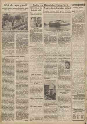 1934 Avrupa güzeli İngîlterede yapılan intihapta Fenlaridiya güzeli, MeL Ether Toivonen Kraliçe seçildi sCamkariyet ( Şehir