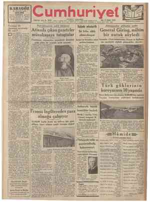 12 Şubat 1 35 TELG RAF ÜAB ER LERİ Balkan andlaşması ve biz Yıldönümünde M. Tituleskonun Dış Bakanımıza gönderdiği telgrafla