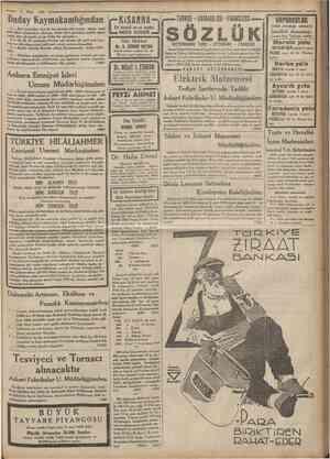 Cumhuriyet '• 2 Mart 1935 Zıd şeyler bir araya gelemezler, GRİPİN ile baş ağrısı gibi... Bir tek kaşe GRİPİN Bazan Baş, dis,