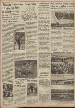 2 Mayısl935 Cumnurîyet Bütün Fransayı lıeyecana düşüren bir çocuk hırsızlığı 500 polis ve jandarma ile detektifler, polis...