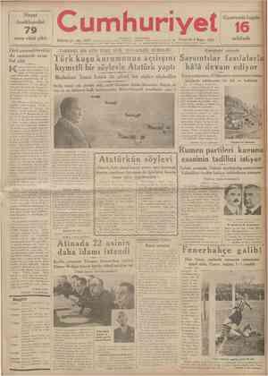 r Hayat Ansiklopedisi uncu cüzü çıktı 79 umhuriyet vıl Jll M U I QÛOÖ tSTANBUL . CAĞALOCLU Pnnortoei A Mouıo IÛQK Sojl. 0 3 0