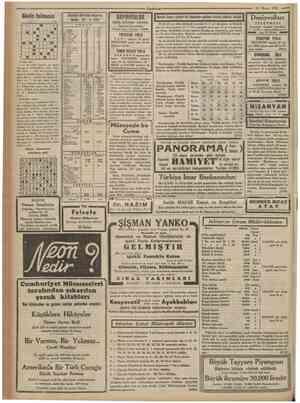 Cumhuriyet 21 Mayıs 1935 Giinlin bulmacası 1 2 8 4 10 !• 1 (•I • • 1I • ! I •1 ! • 1 i1 • t 1 •1 1 1 1 •1 • 6 i 1 !! • ıı 1 *