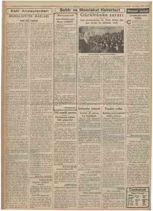 CumKımyet 23 Mayıa 1935 [ Şehir ve Memleket Haberleri ) Siyasî îcmal MUHALEFETIN BASLARI Halid Ziya Uşaklıgil Bu yazılarda ne