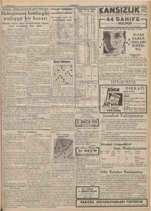 18 Haziran 193» CUMHURÎYET Italyan Habeş sınırında yeni hâdiseler Habeşistanın bomba gibi pathyan bir kararı Habeşîer İtalyan