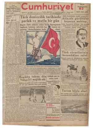 üncü cüzü Cumhuriyet evinize geliren en Her evde bir tane Onbirinci yıl I Temmuz 1935 Bugünkü Türk denizcilik tarihinde e...