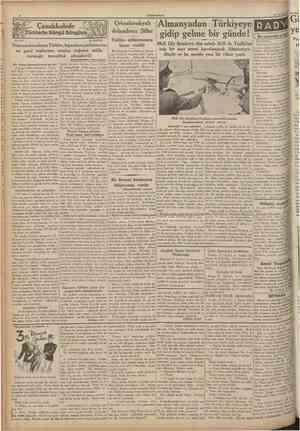 CUMHURfYET 14 Ağustos 1935 Türklerle Süngu Süngüye No. 276 A. DAVER Çanakkalede Çekoslovakyalı dolandırıcı Şiller Tahliye...