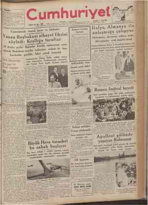 r Bugün: İkinci sahifemizde: Siyasî icmal Al manya Litvanya munasebatı fenalaştı, Raufa daır Halid Ziya Uşaklıgil Beşinci...